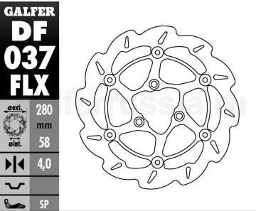 Лепестковый диск со стальной ступицей увл. диаметра DF 037 FLX перед или зад