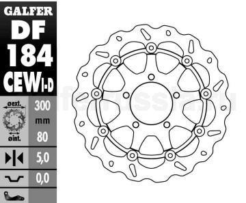 Тормозной диск для мотоциклов спорт/город DF 184 CEWD/I перед