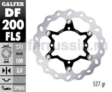 Лепестковый диск увеличенного диаметра DF200FLS перед
