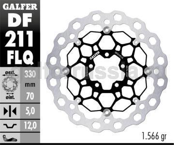 Тормозной диск для мотоциклов спорт/город DF211FLQ перед