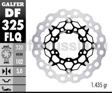 Тормозной диск для мотоциклов спорт/город DF325FLQ перед
