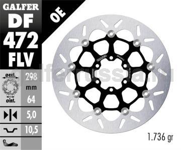 Тормозной диск для мотоциклов спорт/город DF472FLV перед или зад