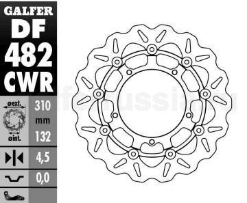 Тормозной диск для мотоциклов спорт/город DF 482 CWR перед