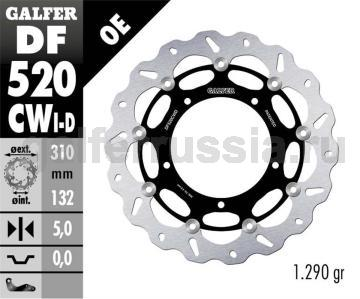 Тормозной диск для мотоциклов спорт/город DF520CWD/I перед