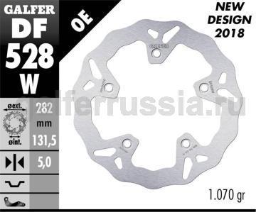 Лепестковый не плавающий диск DF528W зад