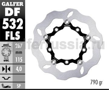 Лепестковый диск увеличенного диаметра DF532FLS перед