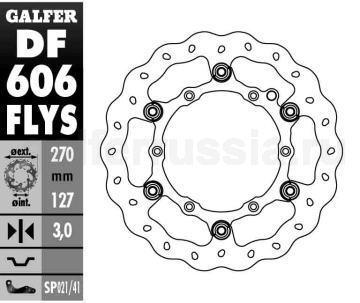 Тормозной диск для мотоциклов спорт/город DF 606 FLYS перед
