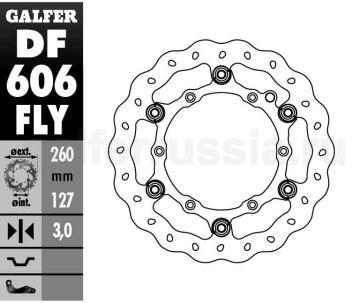 Тормозной диск для мотоциклов спорт/город DF 606 FLY перед