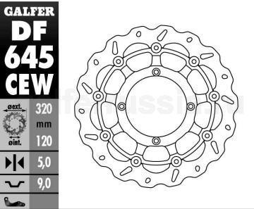 Тонкий лепестковый плавающий диск DF 645 CEW перед