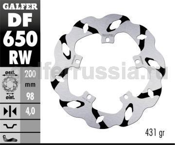 Лепестковый тормозной диск с боковыми проточками DF650RW перед или зад
