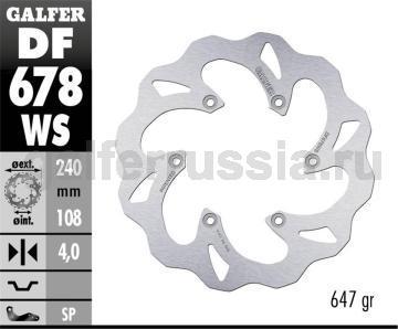 Лепестковый не плавающий диск увл. диаметра DF678WS зад