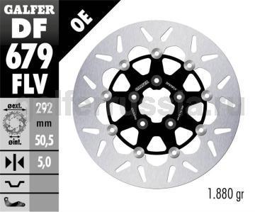 Тормозной диск для мотоциклов спорт/город DF679FLV перед