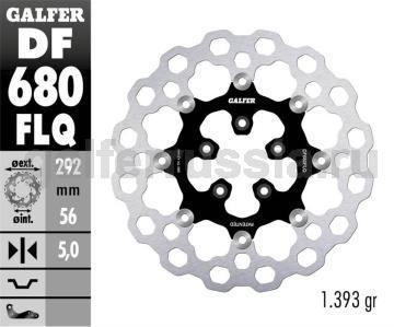 Тормозной диск для мотоциклов спорт/город DF680FLQ перед