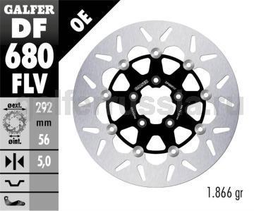 Тормозной диск для мотоциклов спорт/город DF 680 FLV перед