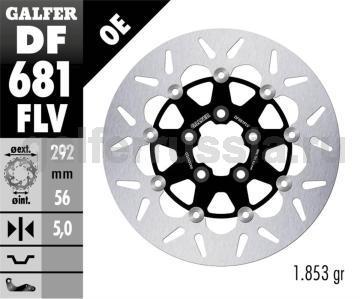 Тормозной диск для мотоциклов спорт/город DF681FLV зад