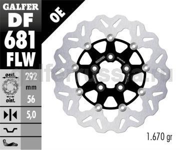 Лепестковый плавающий диск со стальной ступицей DF 681 FLW зад