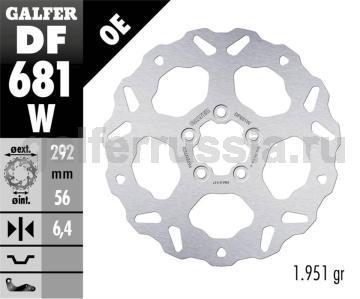 Лепестковый не плавающий диск DF681W зад