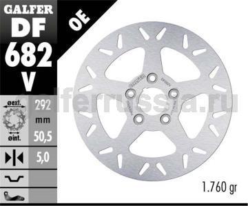 Тормозной диск для мотоциклов спорт/город DF682V зад