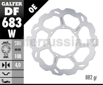 Лепестковый не плавающий диск DF 683 W перед