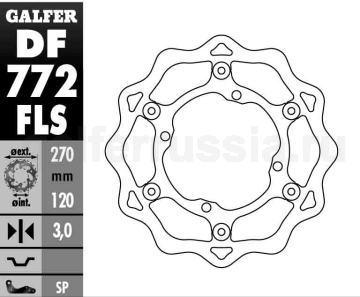 Лепестковый диск увеличенного диаметра DF 772 FLS перед