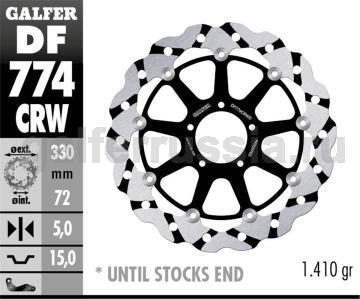 Тормозной диск для мотоциклов спорт/город DF774CRW перед