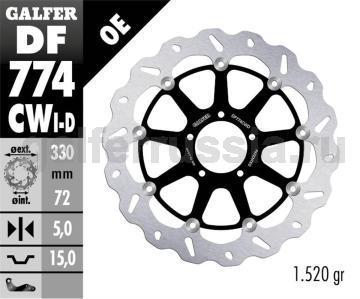 Тормозной диск для мотоциклов спорт/город DF774CWD/I перед