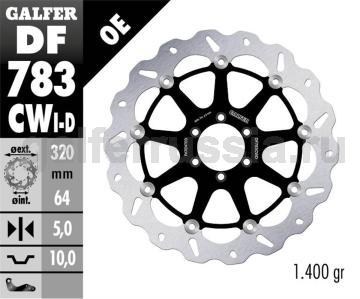 Тормозной диск для мотоциклов спорт/город DF 783 CWD/I перед