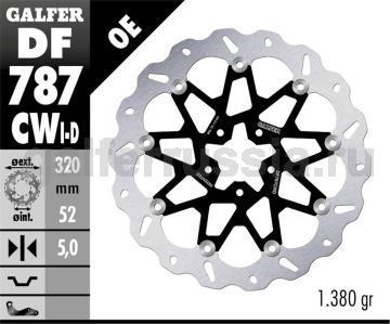 Тормозной диск для мотоциклов спорт/город DF787CWD/I перед