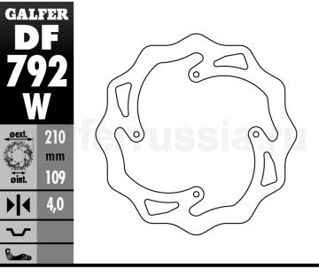 Лепестковый не плавающий диск DF 792 W зад