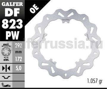 Тормозной диск для мотоциклов спорт/город DF823PW перед