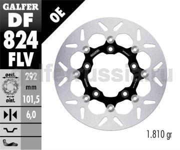Тормозной диск для мотоциклов спорт/город DF824FLV зад