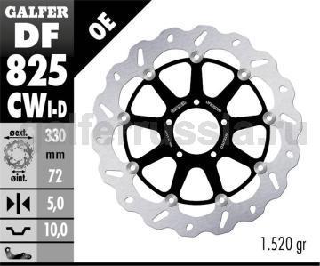 Тормозной диск для мотоциклов спорт/город DF825CWD/I перед