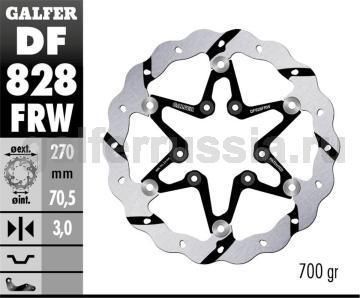 Тормозной диск для мотоциклов спорт/город DF828FRW перед