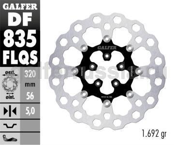 Тормозной диск для мотоциклов спорт/город DF835FLQS перед