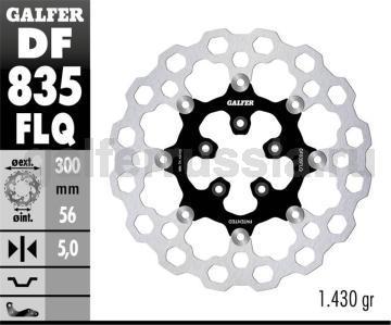 Тормозной диск для мотоциклов спорт/город DF835FLQ перед