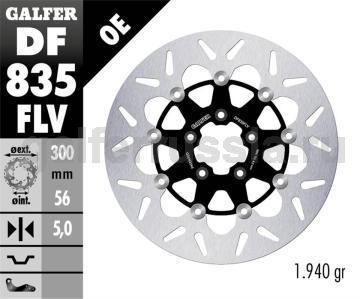 Тормозной диск для мотоциклов спорт/город DF835FLV перед