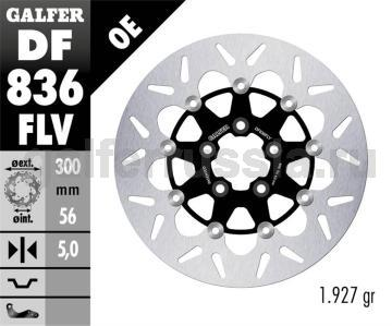 Тормозной диск для мотоциклов спорт/город DF836FLV зад