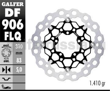 Тормозной диск для мотоциклов спорт/город DF906FLQ перед