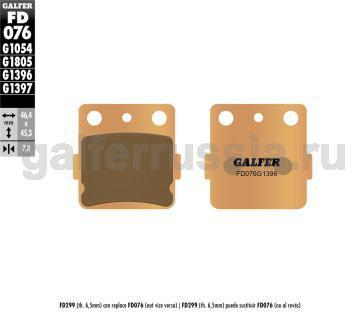 Тормозная колодка для грунта FD076G1396 перед или зад