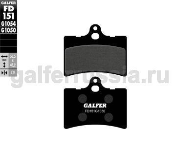 Городская тормозная колодка для скутеров FD151G1050 перед или зад