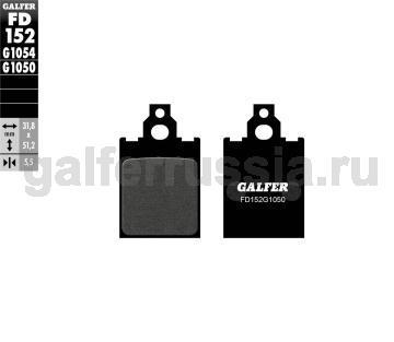 Городская тормозная колодка для скутеров FD152G1050 перед или зад