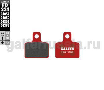 Тормозная колодка грунт-триал FD224G1805 перед или зад