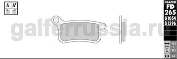 Тормозная колодка город-спорт FD265G1651 перед или зад