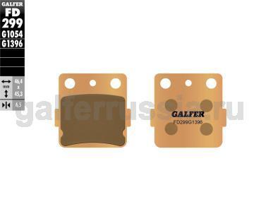 Тормозная колодка для грунта FD299G1396 перед или зад