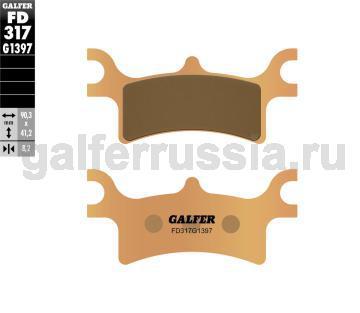 Тормозная колодка для квадроциклов FD317G1397 зад