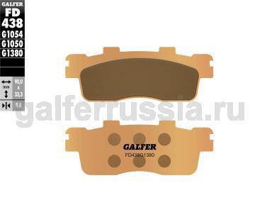Тормозная колодка для скутера FD438G1380 зад