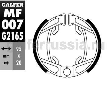 Колодка для тормозов барабанного типа MF 007 G2165 зад