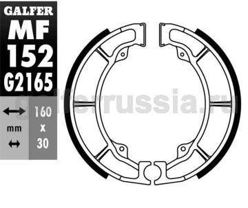 Колодка для тормозов барабанного типа MF 152 G2165 зад