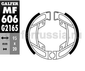 Колодка для тормозов барабанного типа MF 606 G2165 зад