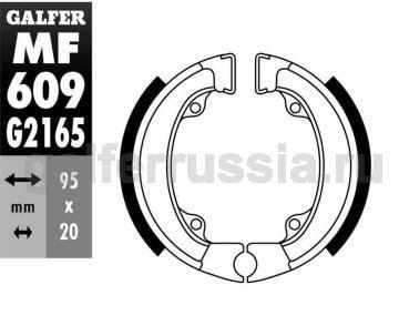 Колодка для тормозов барабанного типа MF609G2165 зад